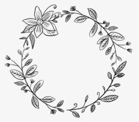 flower #wreath #round #circle #frame #border #vinesandleaves Round Flower Border Black And White HD Png Download Transparent Png Image PNGitem