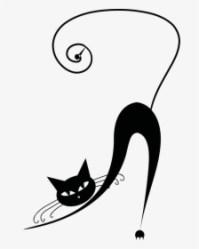 Transparent Cute Black Cat Clipart Black Cat Drawing Easy HD Png Download Transparent Png Image PNGitem