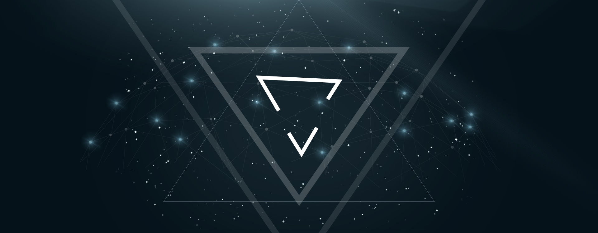 Cute Blue Hearts Wallpaper Astral Geometry Background Triangle Poster Banner Flat