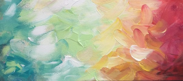 Abstract Watercolor Oil Painting