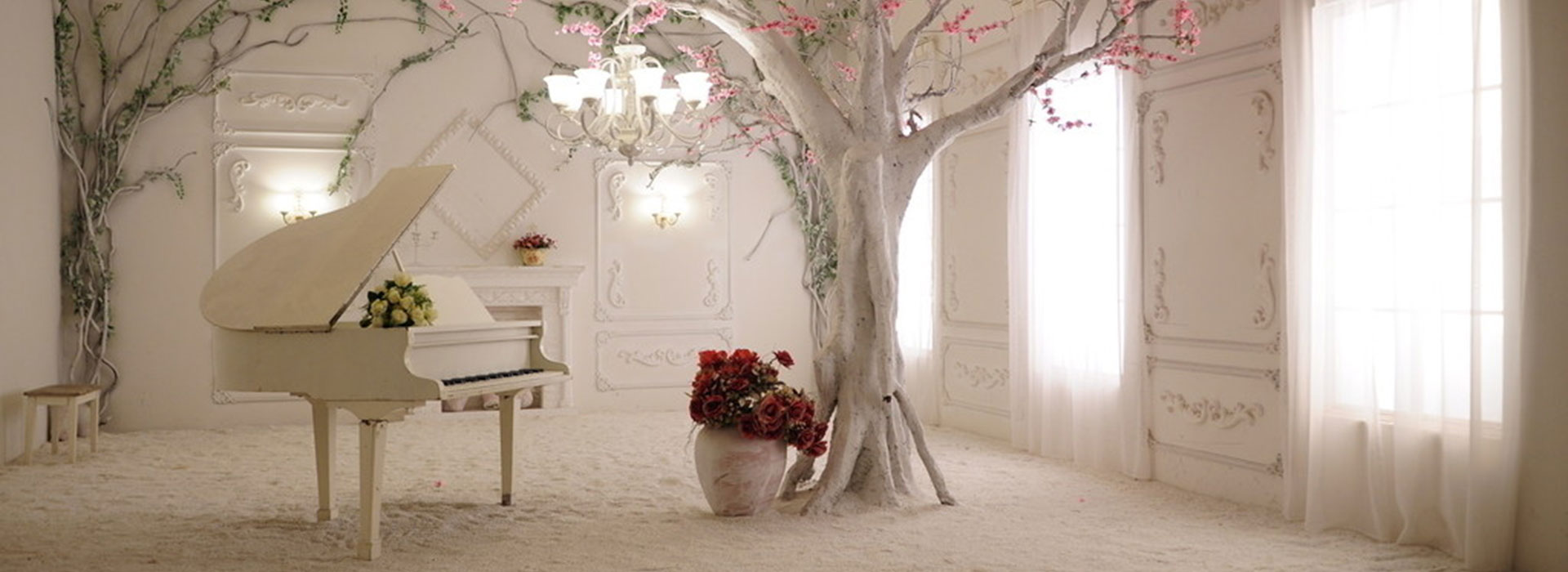 Fall In Love Wallpaper Free Download Continental Romantic Aesthetic Background Piano Window