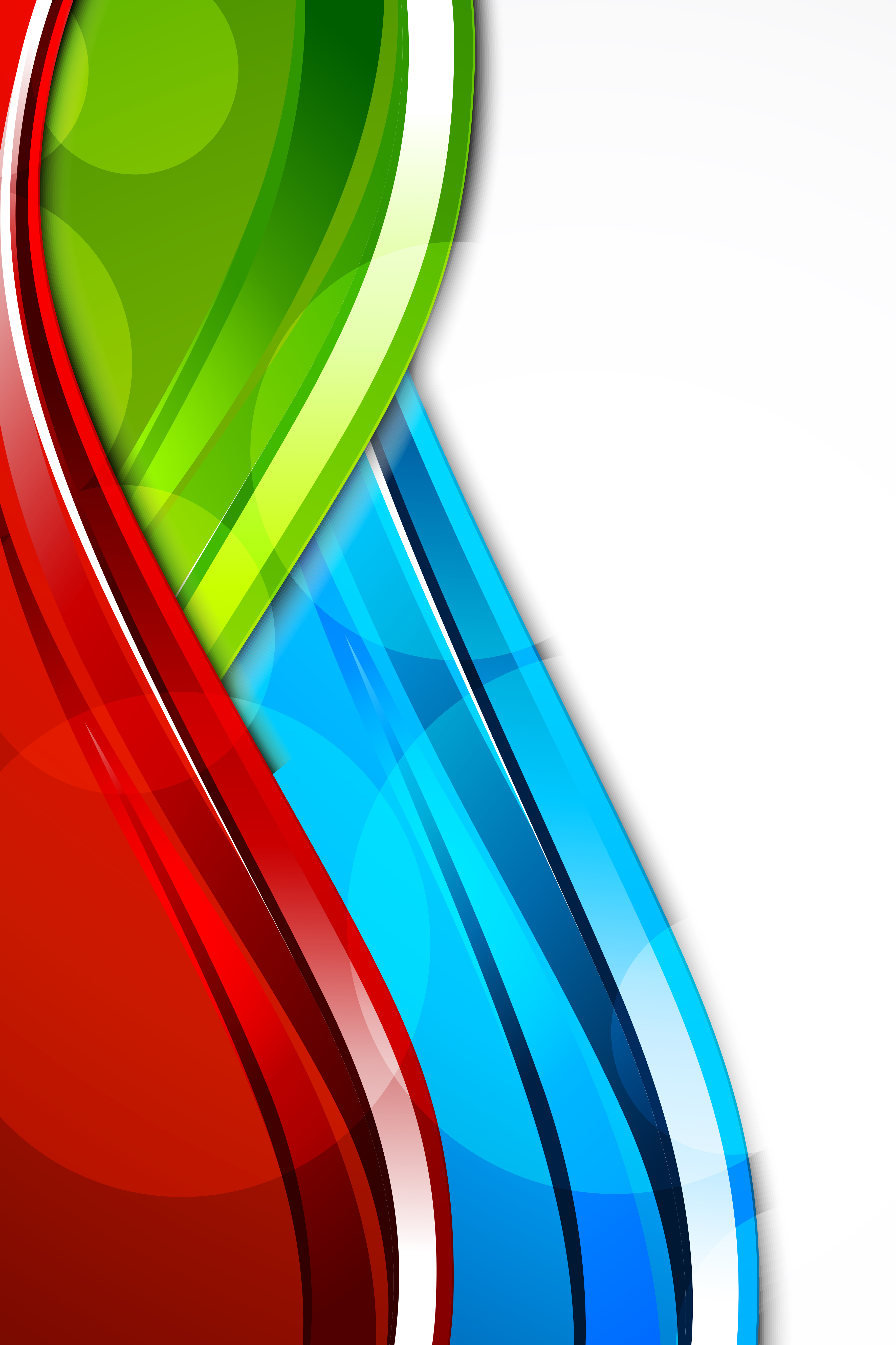 Free Fall Color Wallpaper Primary Colors Curve Wave Vector Poster Primary Colors