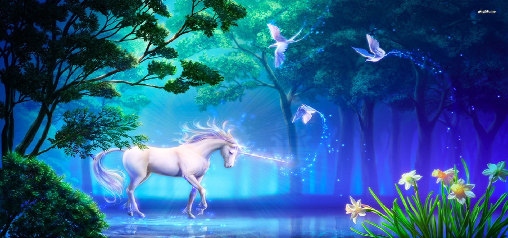 Tinkerbell Fall Wallpaper Dream Cartoon Unicorn Dream Cartoon Unicorn Background