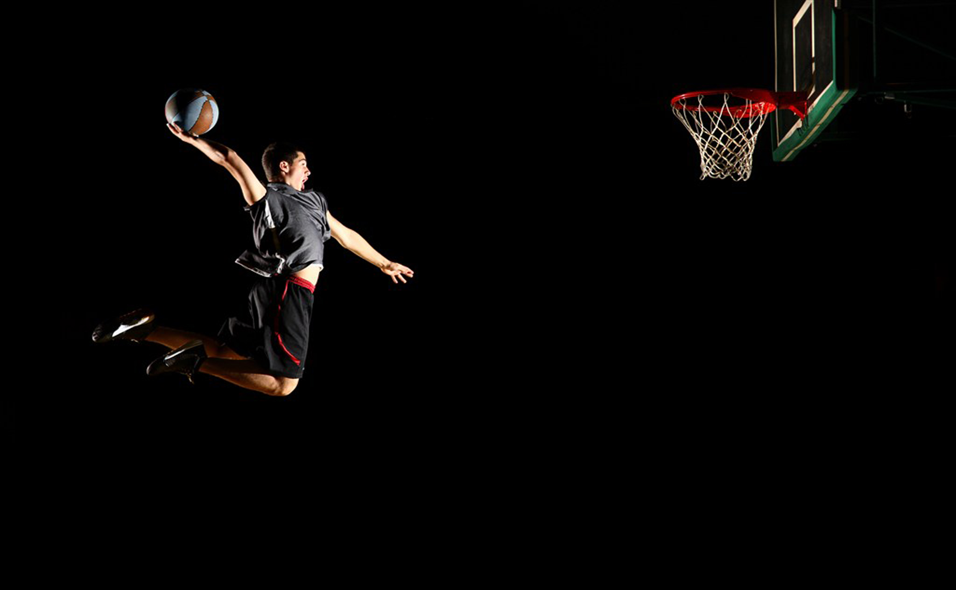 Playing Basketball Dunk Figure Dunk Basketball Court Sports Background Image For Free Download
