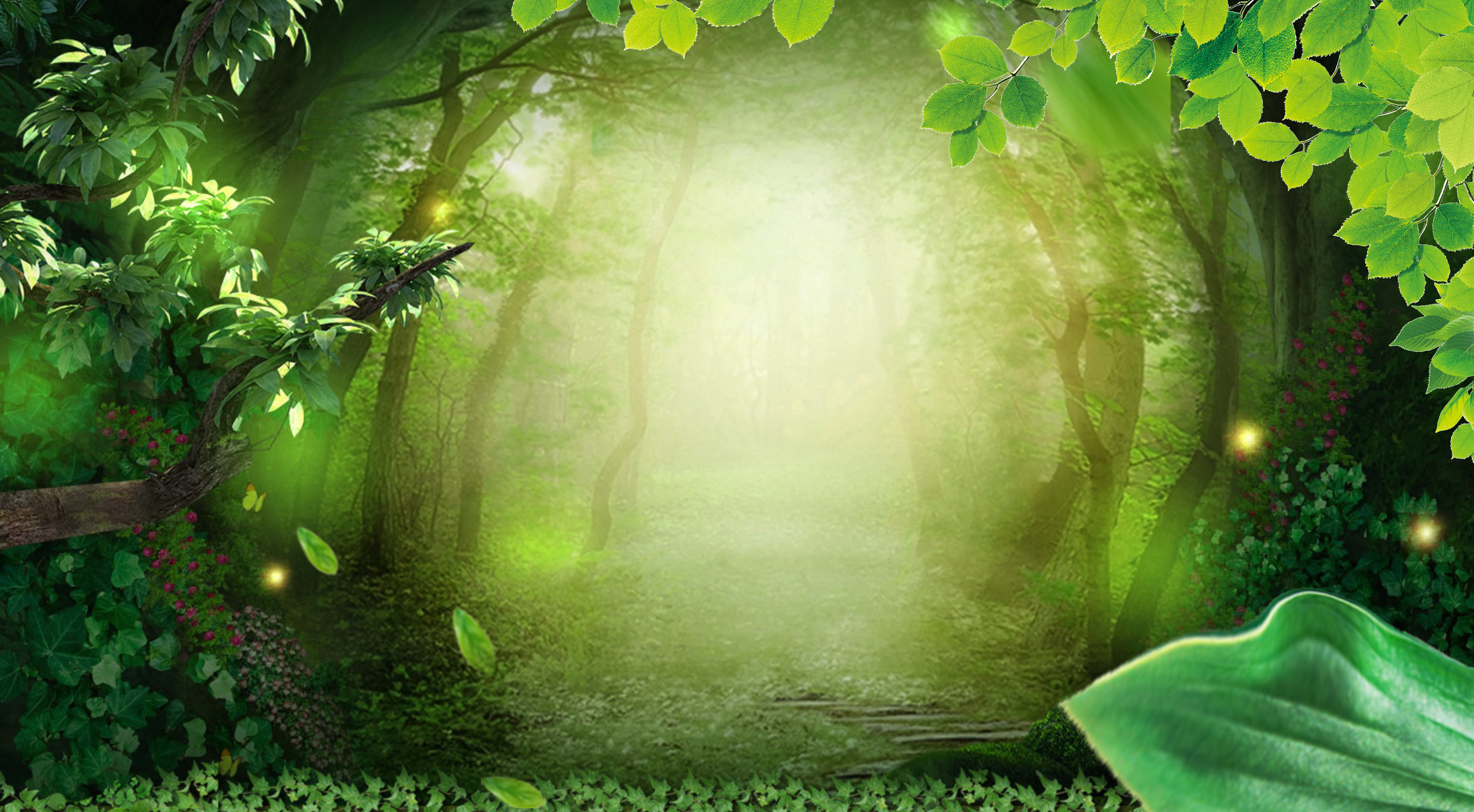 Fall Halloween Computer Wallpaper Nature Forest Background Material Cosmetics Forest