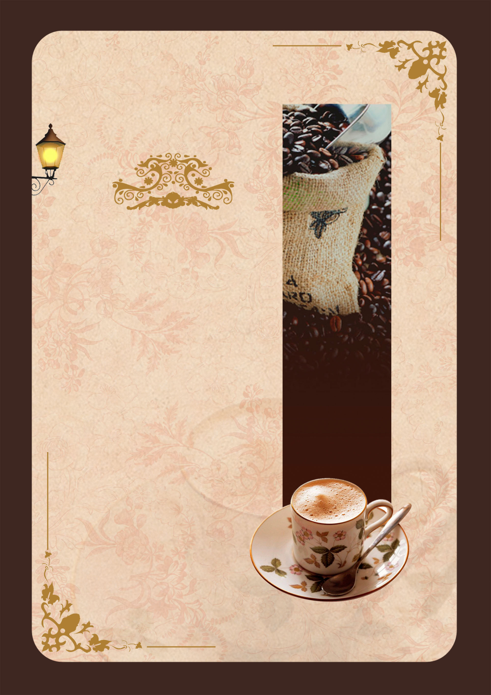 Cool Fall Wallpaper Coffee Carte Menu Of Traditional Pattern Background