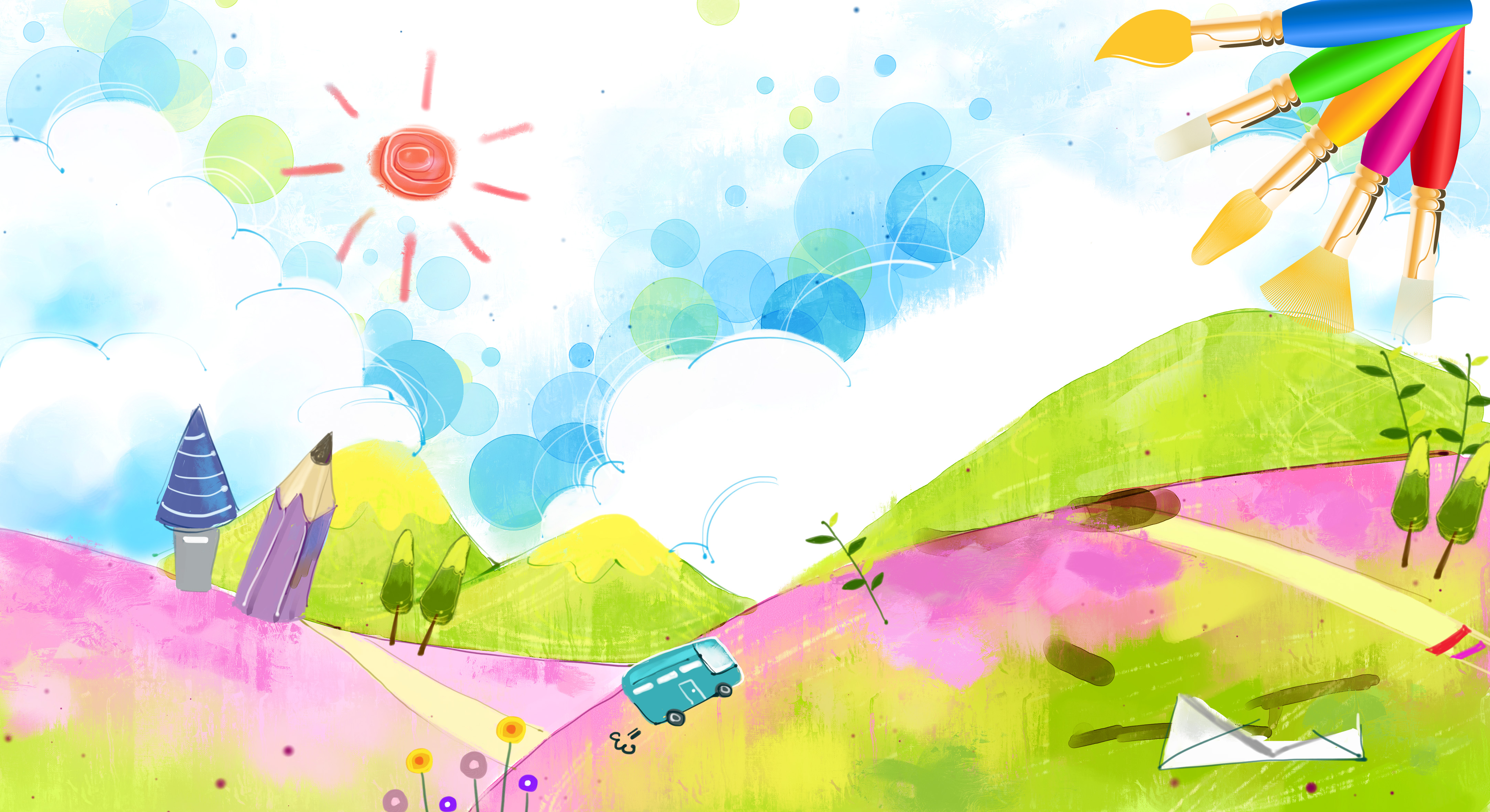 Cool Wallpapers For Boys Of Money And Cars Childrens Painting Competition Poster Background Material