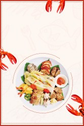 dinner gourmet poster meal lunch meat cuisine use seafood buffet banner simple pngtree