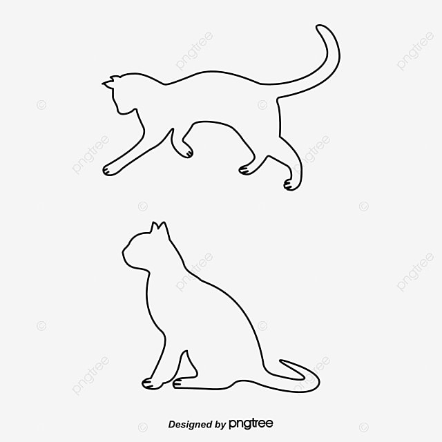 Creative Black Cat, Black Vector, Cat Vector, Cat Clipart