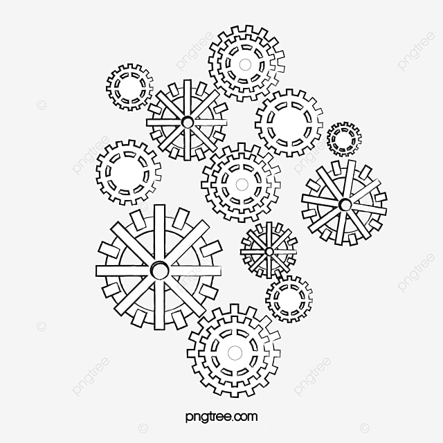 Gears Clocks Drawing