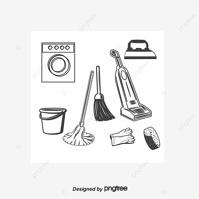 Household Cleaning Tool Design Vector Material,, Washing