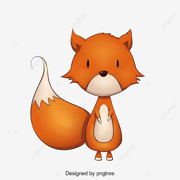 Little Fox Clipart Baby Cute And Psd