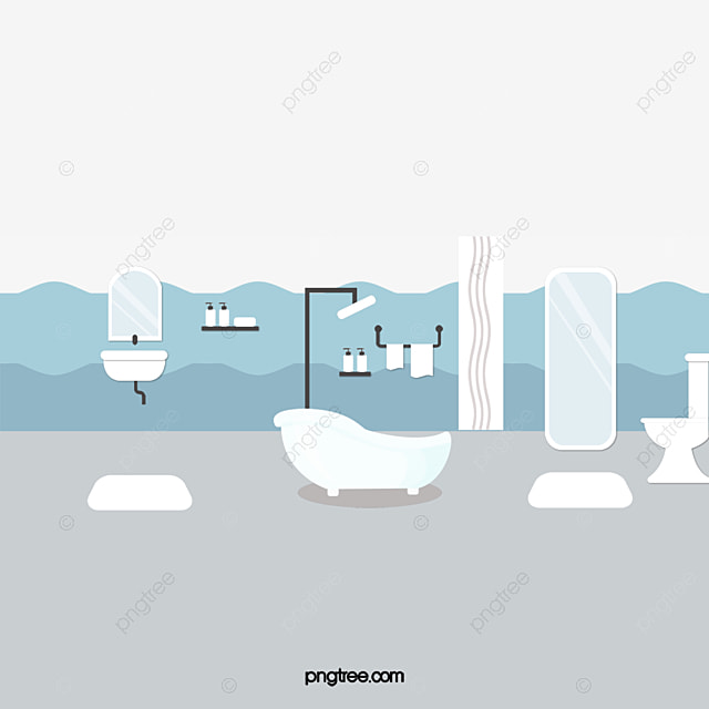 Vector Bathroom. Bathroom. Tub. Toilet PNG and Vector with Transparent Background for Free Download