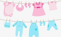 Vector baby clothes, Pink, Blue, Clothing PNG and Vector ...