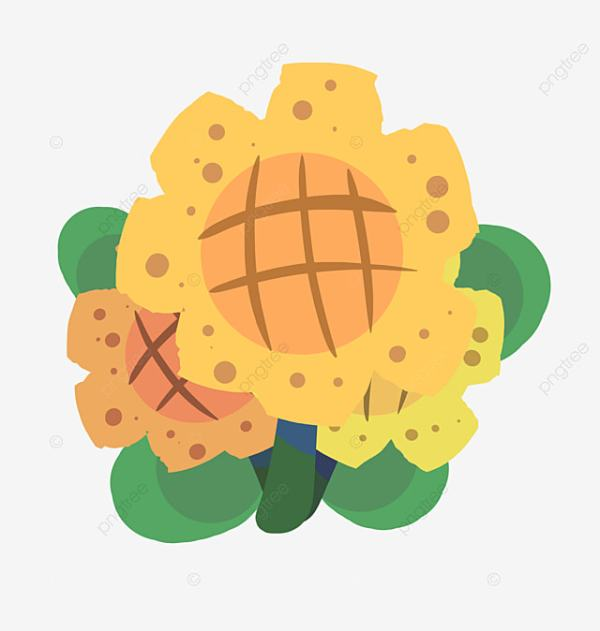 cartoon sunflower clipart