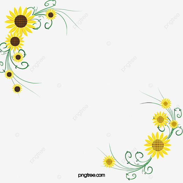 sunflower clipart decorative