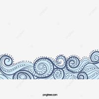 China Wind Blue Wavy Lines Texture Border, Chinese Style ...
