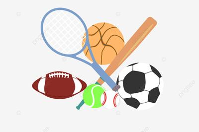 This picture showcases the various different tools that are used in different sports like a soccer ball, tennis ball etc.