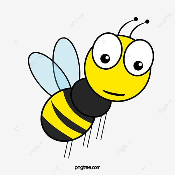 flying cartoon bee clipart