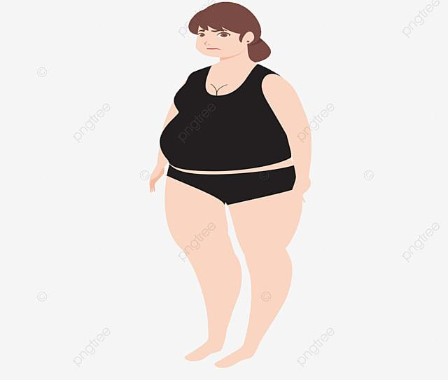 Vector Painted Fat Woman Woman Vector Vector Hand Painted Png And Vector
