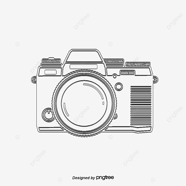 Vector Line Drawing Camera, Line Clipart, Camera Clipart