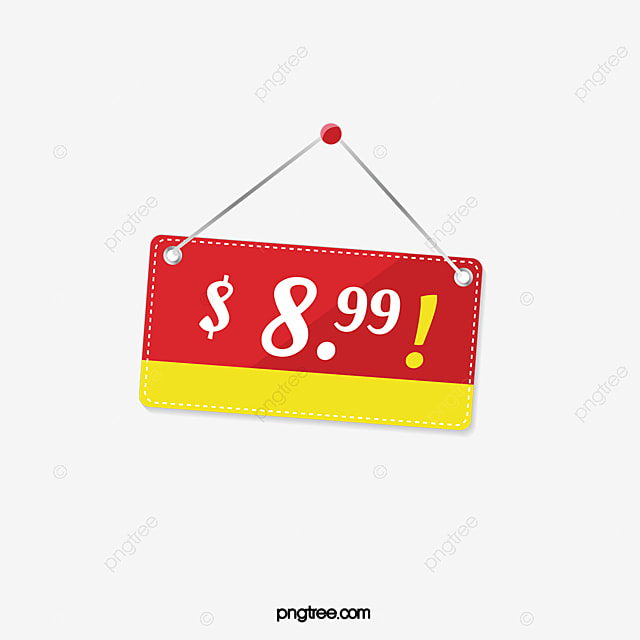 Red Price Tag Red Free Dollar PNG Image And Clipart For Free Download