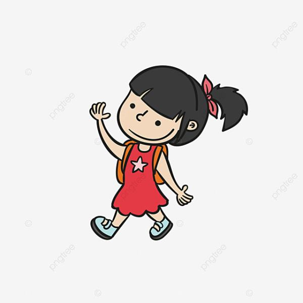 cartoon little girl clipart