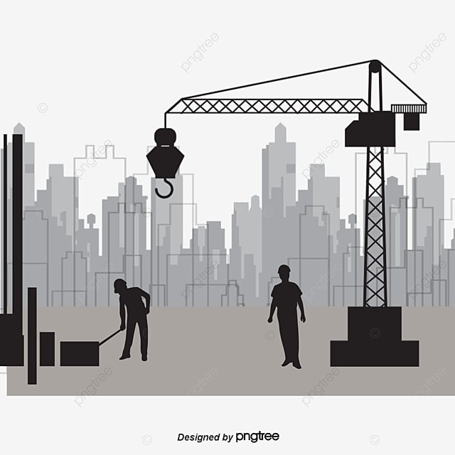 Construction Worker Cover Floor Construction Planning PNG and PSD File for Free Download