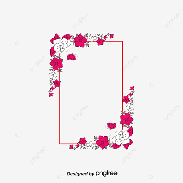 Pattern Letter Border Beautiful Letter Frame PNG and PSD File for Free Download