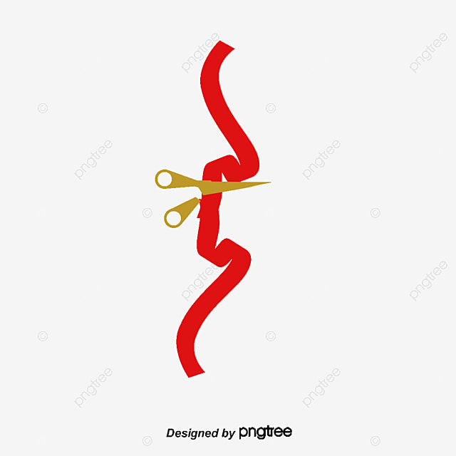 Ribbon Cutting Png : ribbon, cutting, Ribbon, Cutting, Images, Vector, Files, Download, Pngtree