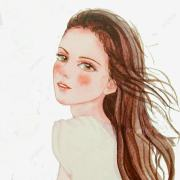 illustration girl hairstyle line