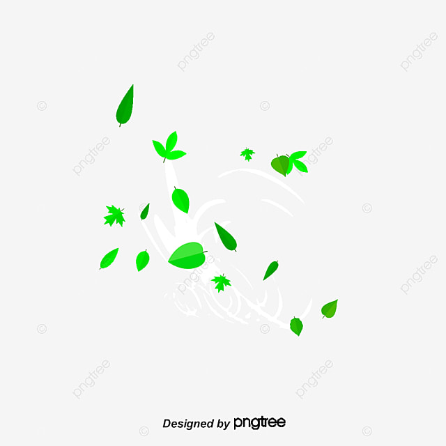 Falling Snow Wallpaper Software The Wind Blows The Green Leaves Beautiful Fresh The