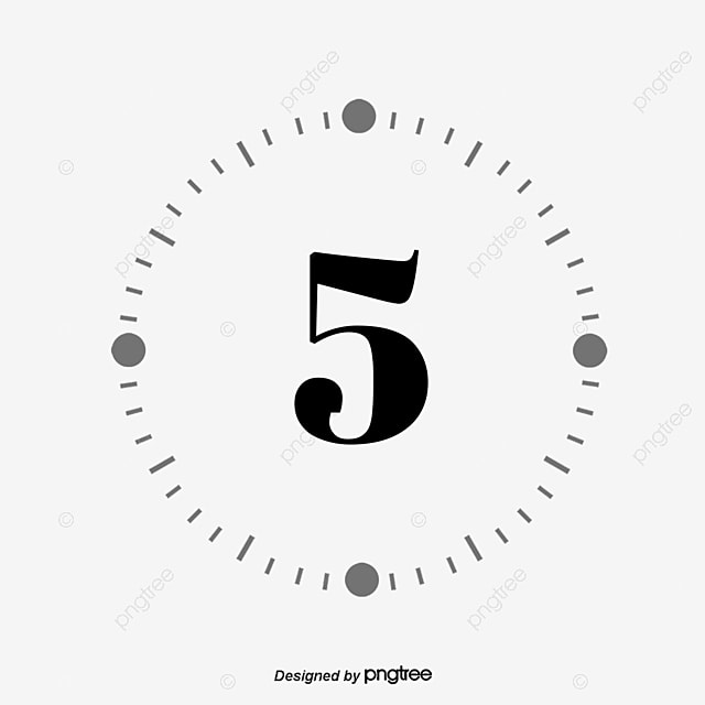Countdown 5 Days Creative Map, Countdown Font Design, Time