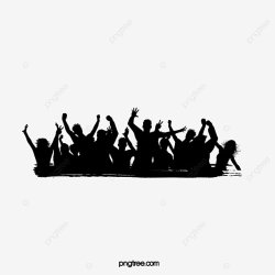 People Silhouette Album Silhouette Figures Cheer People Vector PNG and Vector with Transparent Background for Free Download