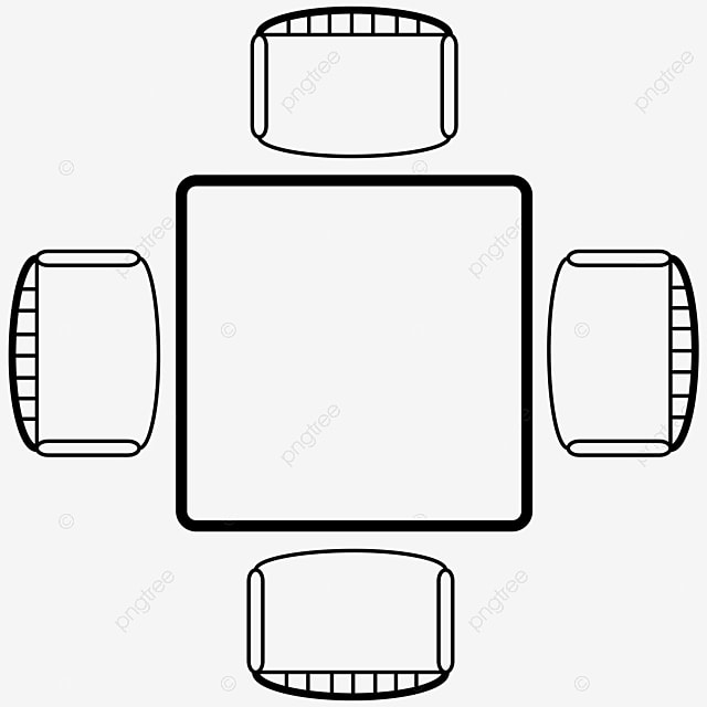 Table And Chair Plan, Table And Chair, Floor Plan