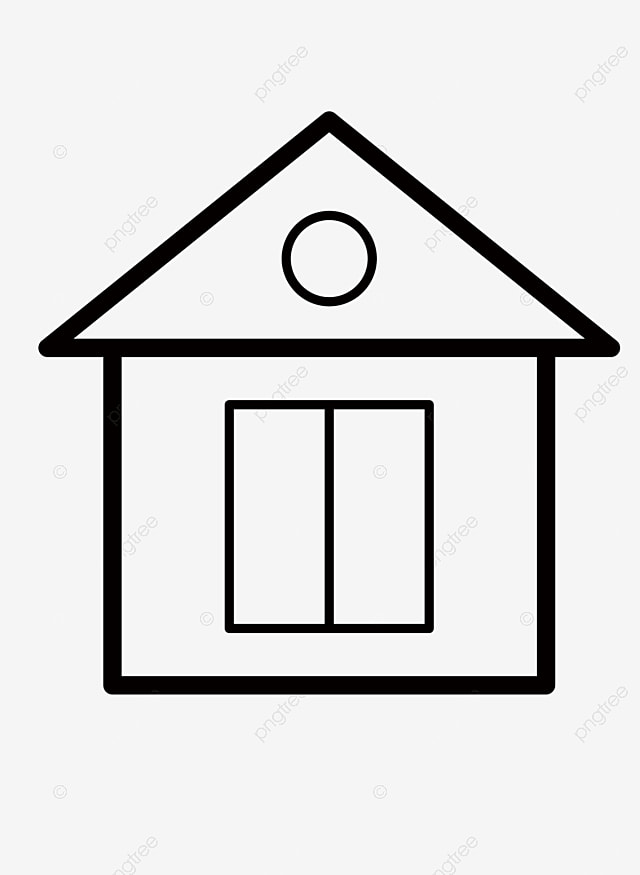 Rumah Kartun Png : rumah, kartun, Cartoon, Drawing, House,, Black, Drawing,, Housing,, Transparent, Clipart, Image, Download