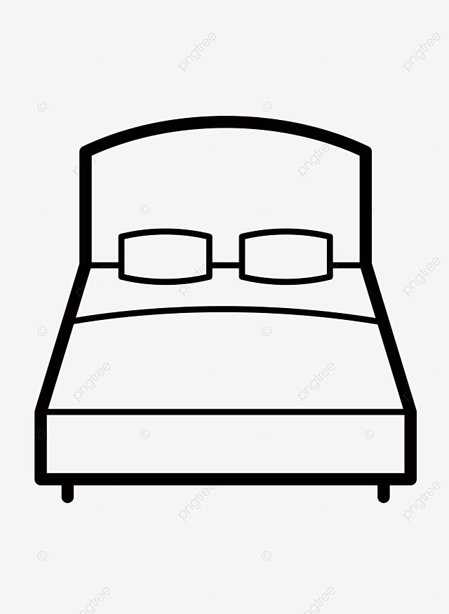 Bed Clipart Black And White : clipart, black, white, Double, Drawing, Icon,, Clipart, Black, White,, Sleep,, Transparent, Image, Download