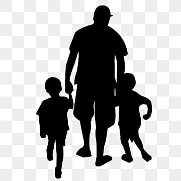 Download Free Download   Father And Son Silhouette Gradient PNG ...