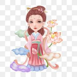 cartoon fairy chinese ancient pngtree psd