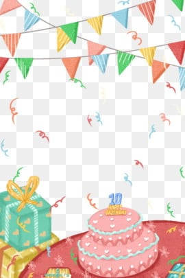 Birthday Border Png Vector Psd And Clipart With