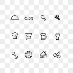 Black And White Food Png Vector PSD and Clipart With Transparent Background for Free Download Pngtree