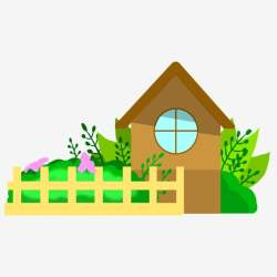 Beautiful Gardens And Houses House Clipart Small House Garden PNG Transparent Clipart Image and PSD File for Free Download