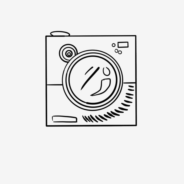 Line Drawing Washing Machine
