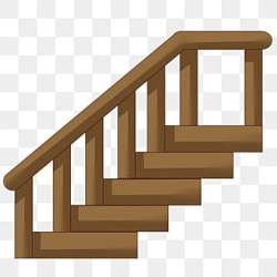 wooden cartoon stairs ladders pngtree psd ladder