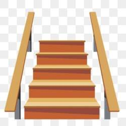 stairs wooden cartoon staircase pngtree psd