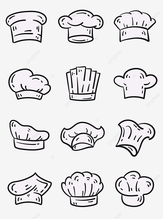 Topi Chef Vector : vector, Kinds, White, Transparent, Layer, Material,, Clipart,, Chinese, Western, Vector, Background, Download