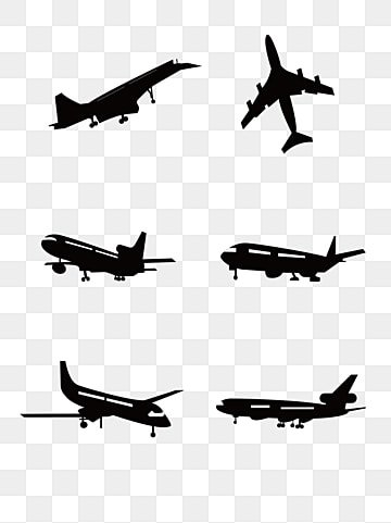 Airplane Clipart Transparent Background : airplane, clipart, transparent, background, Airplane, Silhouette, Vector,, Clipart, Transparent, Background, Download, Pngtree