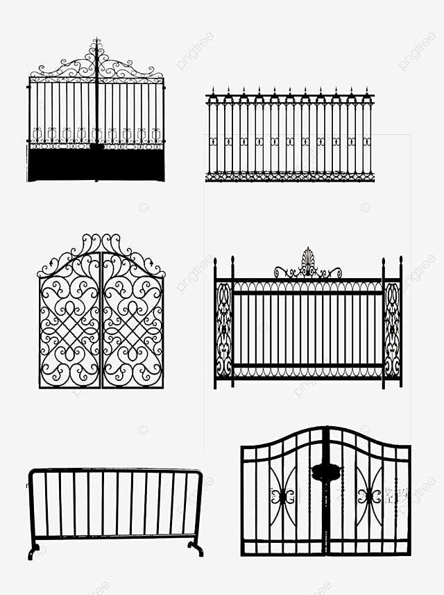 Pagar Vector Png : pagar, vector, Fence,, Wrought, Pattern, Vector, Transparent, Clipart, Image, Download