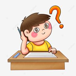 Cartoon Elementary School Student Thinking About Problems Png Transparent Background Cartoon Student Elementary School Student PNG Transparent Clipart Image and PSD File for Free Download