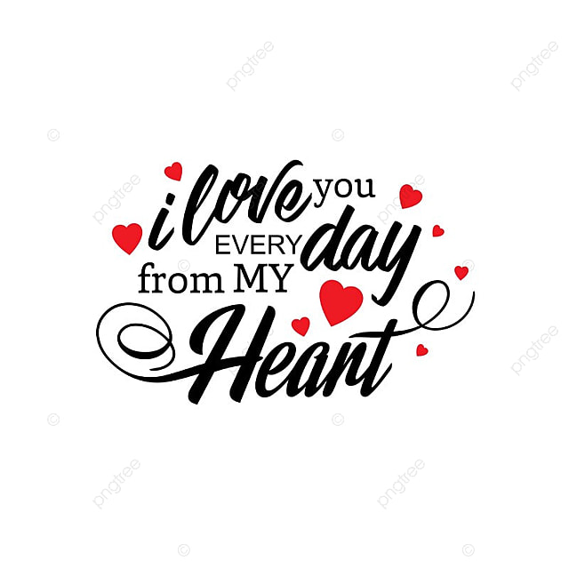 I Love You Png, Vector, PSD, and Clipart With Transparent